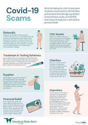 WSB CVD19 Scams Infographic