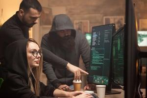 hackers at computer